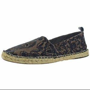 Donald J Pliner Emil Black Canvas Loafers